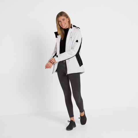 Piper Womens Winter Jacket - White/Black