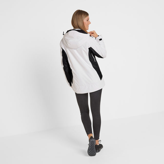 Piper Womens Winter Jacket - White/Black image 2