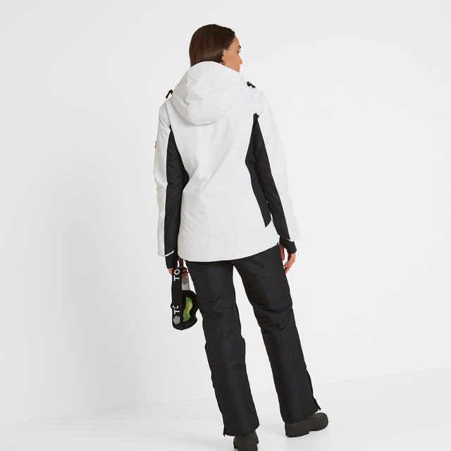 Piper Womens Waterproof Insulated Ski Jacket - White/Black image 3