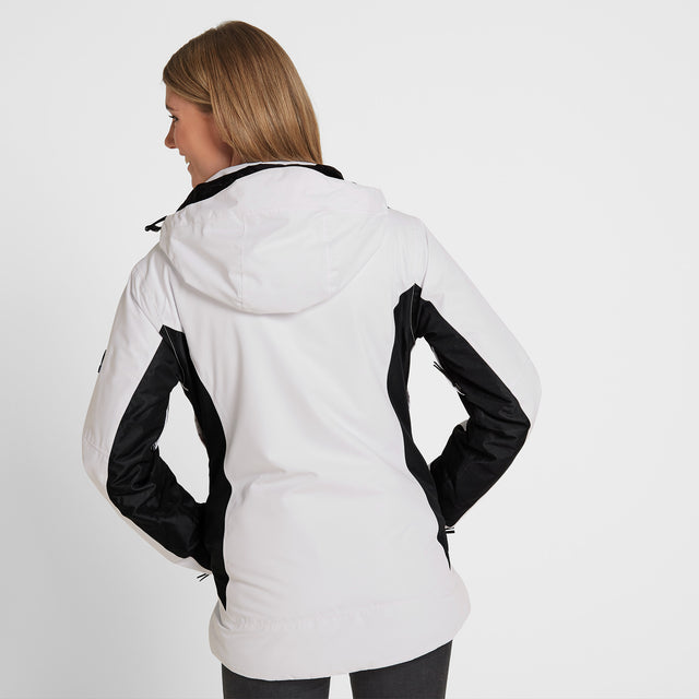 Piper Womens Winter Jacket - White/Black image 3