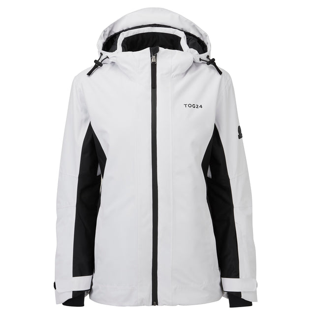 Piper Womens Waterproof Insulated Ski Jacket - White/Black image 5