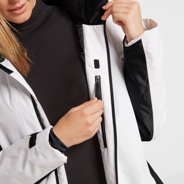 Piper Womens Winter Jacket - White/Black image 5