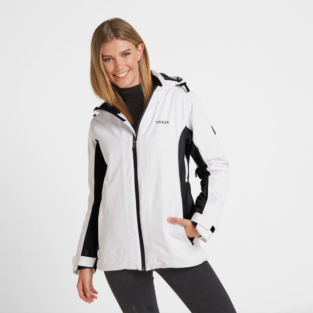 Piper Womens Winter Jacket - White/Black image 1
