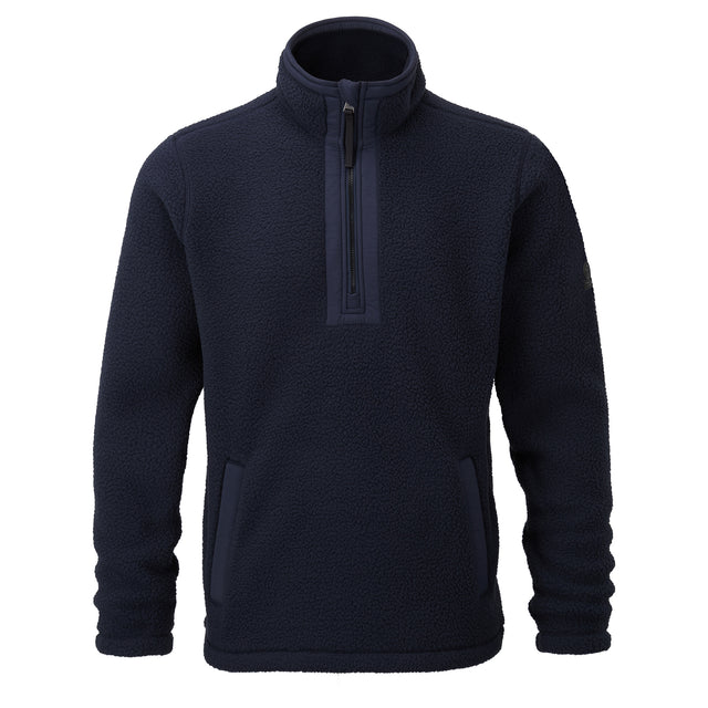 Pollard Mens Sherpa Fleece Zipneck - Dark Indigo