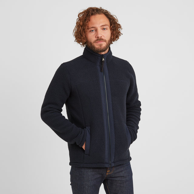 Pyrah Mens Sherpa Fleece Jacket - Dark Indigo image 1