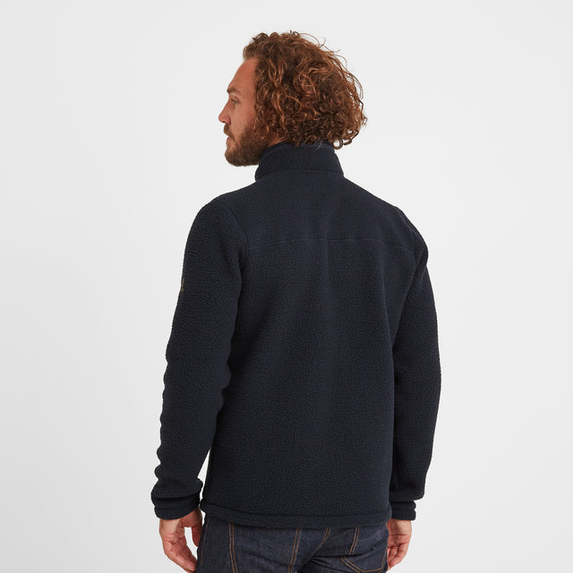 Pyrah Mens Sherpa Fleece Jacket - Dark Indigo image 2