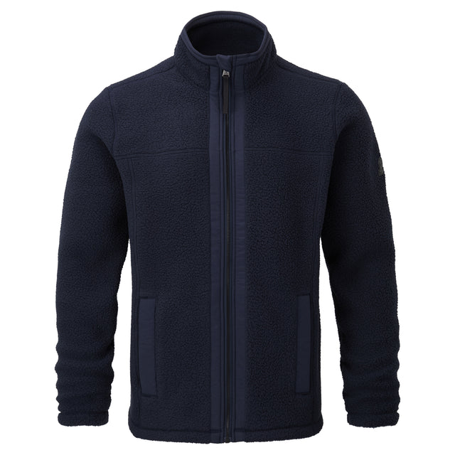 Pyrah Mens Sherpa Fleece Jacket - Dark Indigo image 5