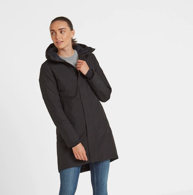 Radiant Womens Waterproof Down Fill Parka - Black image 2