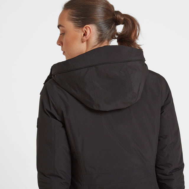 Radiant Womens Waterproof Down Fill Parka - Black image 3