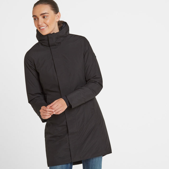 Radiant Womens Waterproof Down Fill Parka - Black image 1