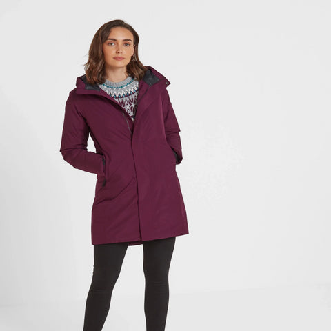 Radiant Womens Waterproof Down Fill Parka - Aubergine