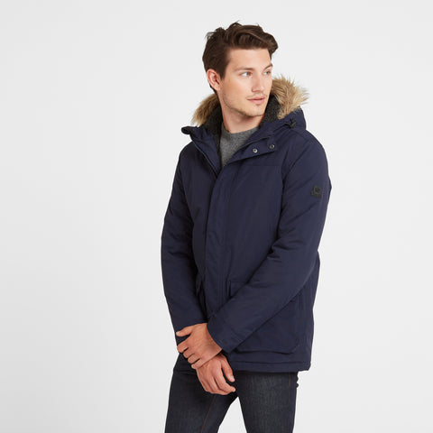 Radial Mens Waterproof Parka Jacket - Navy
