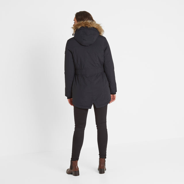 Radial Womens Waterproof Parka Jacket - Black image 2