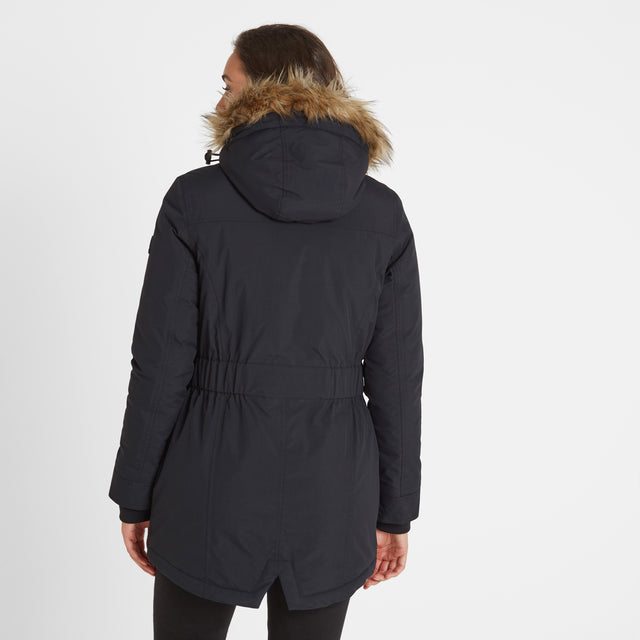 Radial Womens Waterproof Parka Jacket - Black image 3