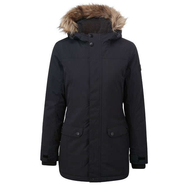 Radial Womens Waterproof Parka Jacket - Black image 6