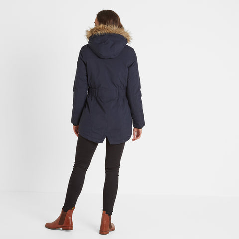 Radial Womens Waterproof Parka Jacket - Navy