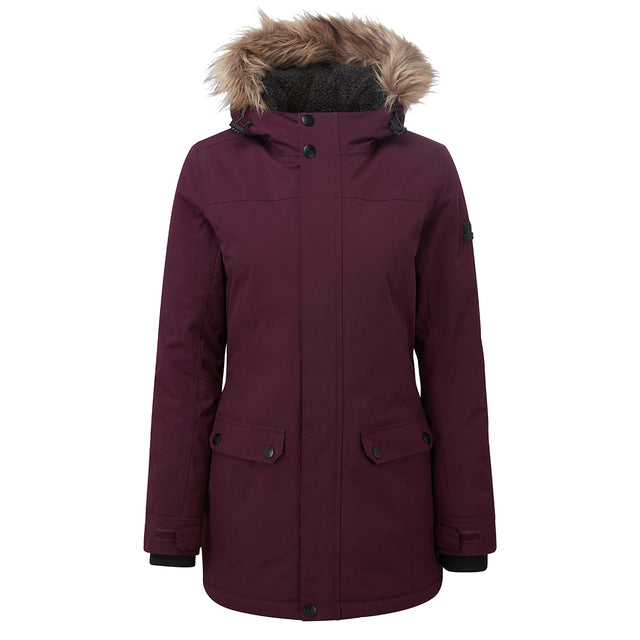 Radial Womens Waterproof Parka Jacket - Aubergine image 6