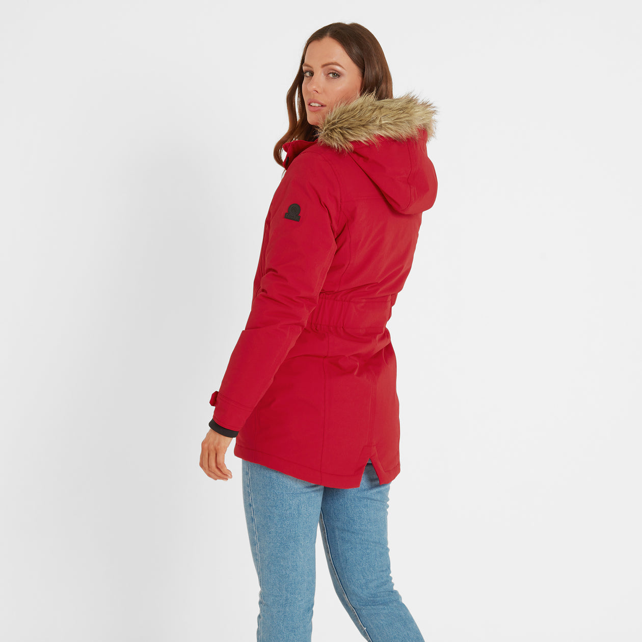 Radial Womens Waterproof Parka Jacket - Rouge Red image 4