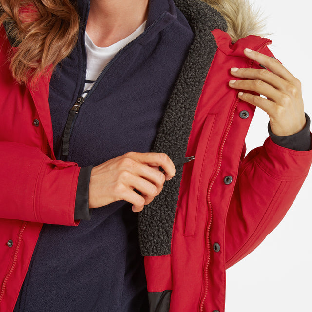 Radial Womens Waterproof Parka Jacket - Rouge Red image 5
