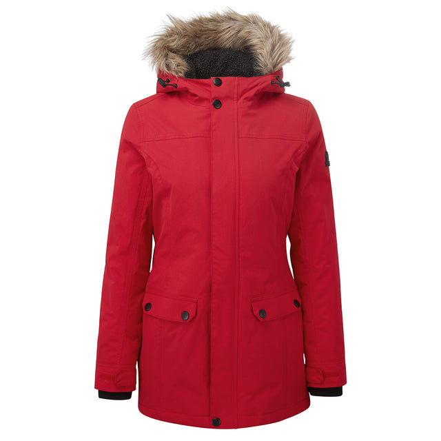 Radial Womens Waterproof Parka Jacket - Rouge Red image 6