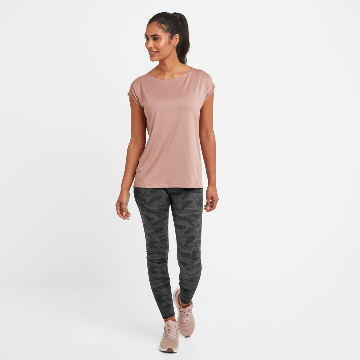 Raywell Womens Tech T-Shirt - Faded Pink image 4