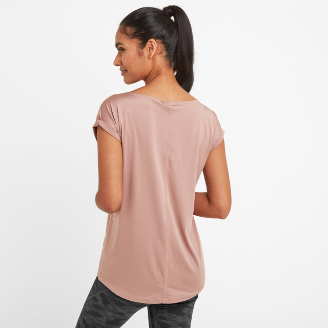 Raywell Womens Tech T-Shirt - Faded Pink image 3