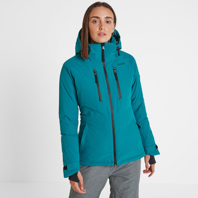 Riley Womens Waterproof Down Fill Ski Jacket - Topaz image 2