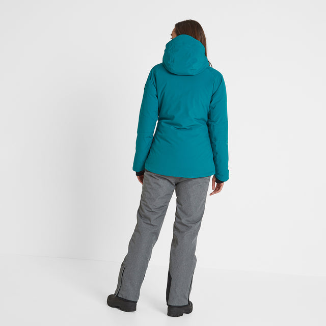 Riley Womens Waterproof Down Fill Ski Jacket - Topaz image 3