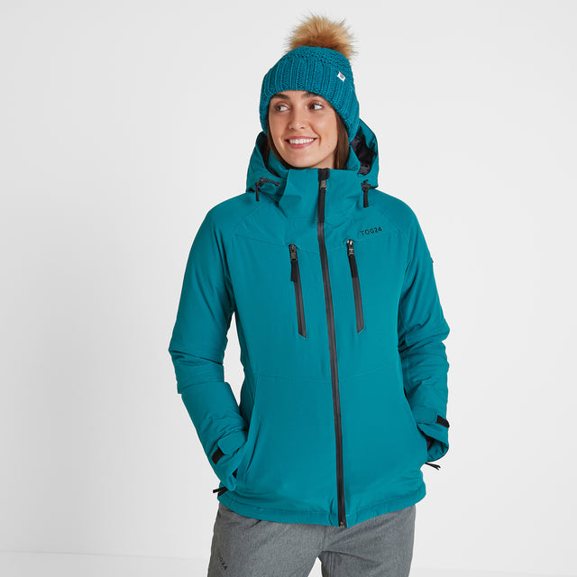 Riley Womens Waterproof Down Fill Ski Jacket - Topaz image 1