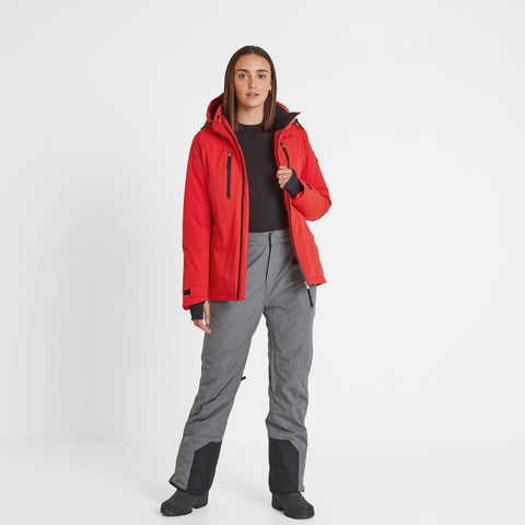 Riley Womens Waterproof Down Fill Ski Jacket - Rouge Red
