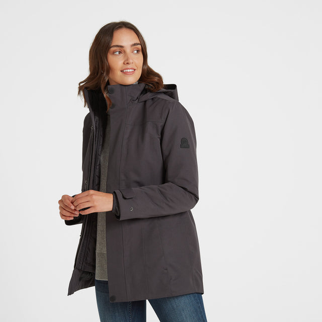 Ripley Womens Waterproof 3-In-1 Jacket - Coal Grey image 1