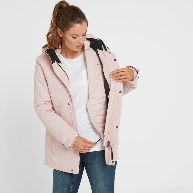 Ripley Womens Waterproof 3-In-1 Jacket - Rose Pink image 2