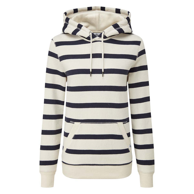 Ruth Womens Hoody Stripe - White/Dark Indigo image 3