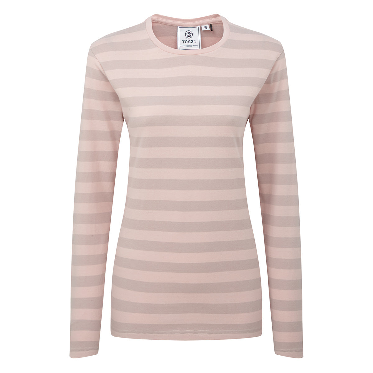 Sandsend Womens Long Sleeve Stripe T-Shirt - Rose image 4