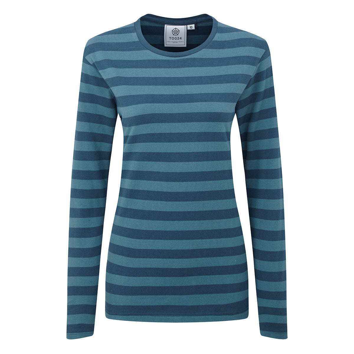 Sandsend Womens Long Sleeve Stripe T-Shirt - Atlantic Blue image 4