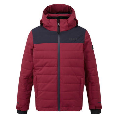 Savick Kids Waterproof Insulated Ski Jacket - Rumba Red/Navy