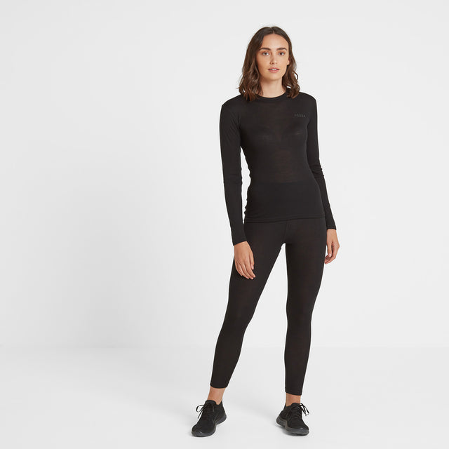 Scafell Womens Thermal Set - Black image 1