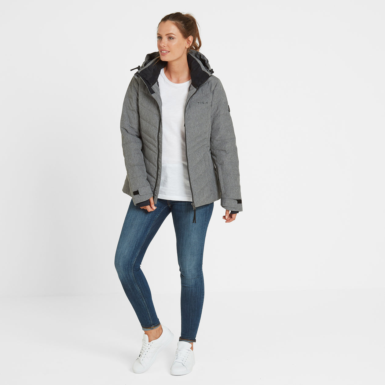 Shaw Womens Winter Jacket - Grey Marl image 4