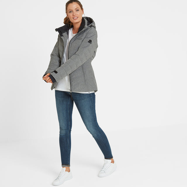 Shaw Womens Winter Jacket - Grey Marl image 1