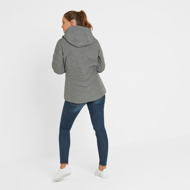 Shaw Womens Winter Jacket - Grey Marl image 2