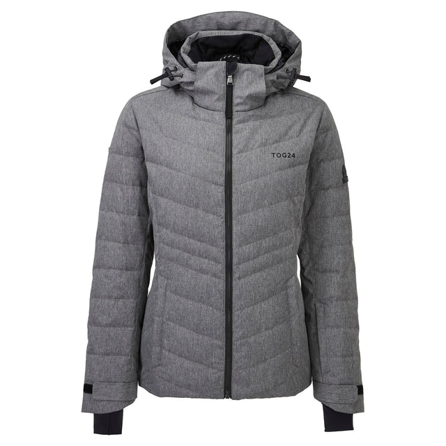 Shaw Womens Down Ski Jacket - Grey Marl image 5