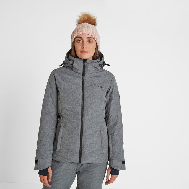 Shaw Womens Down Ski Jacket - Grey Marl image 1