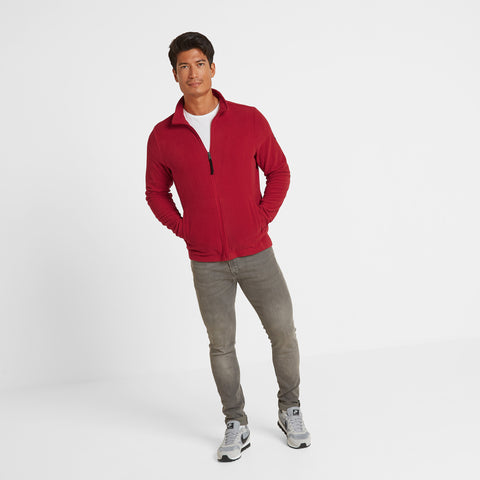 Shire Mens Fleece Jacket - Chilli Red