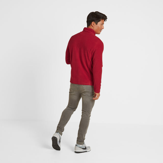 Shire Mens Fleece Jacket - Chilli Red image 2
