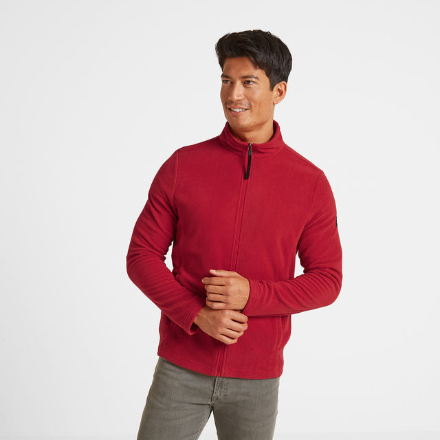 Shire Mens Fleece Jacket - Chilli Red image 1