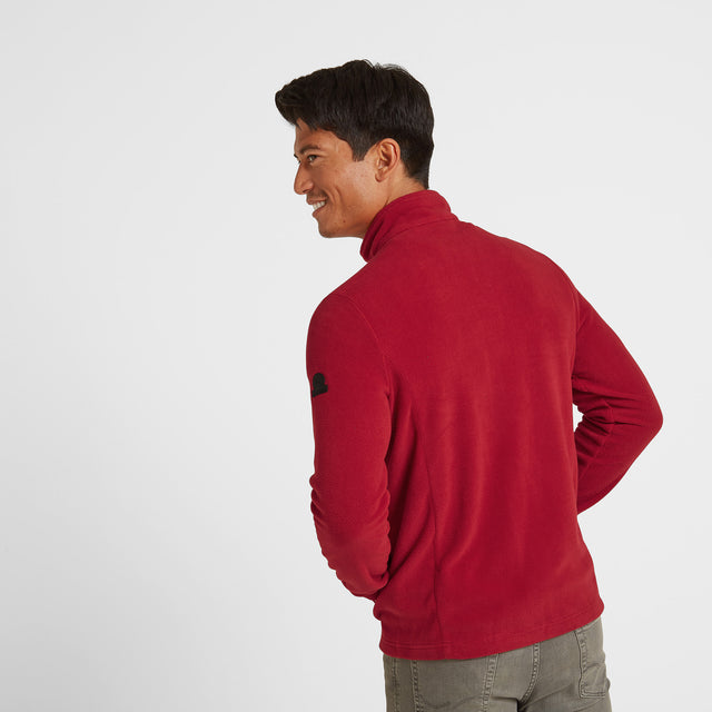 Shire Mens Fleece Jacket - Chilli Red image 3