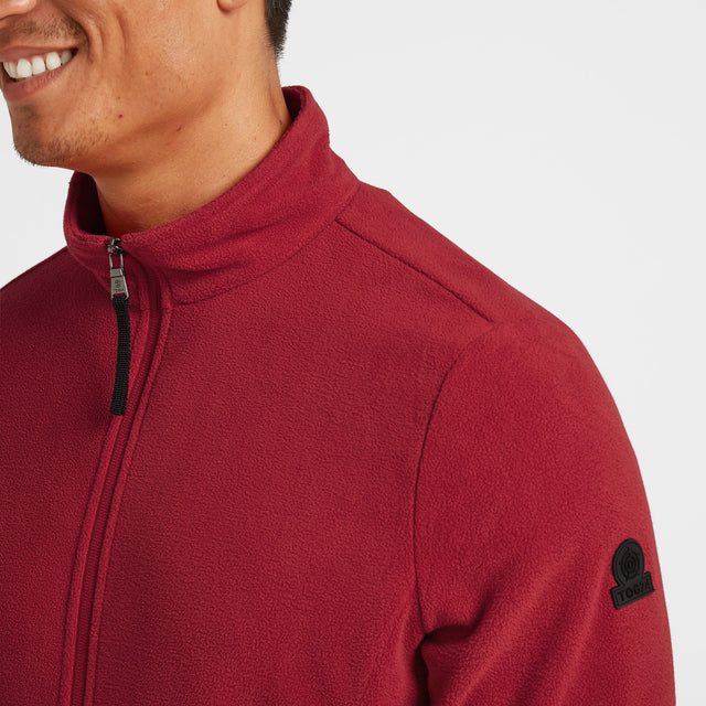 Shire Mens Fleece Jacket - Chilli Red image 5