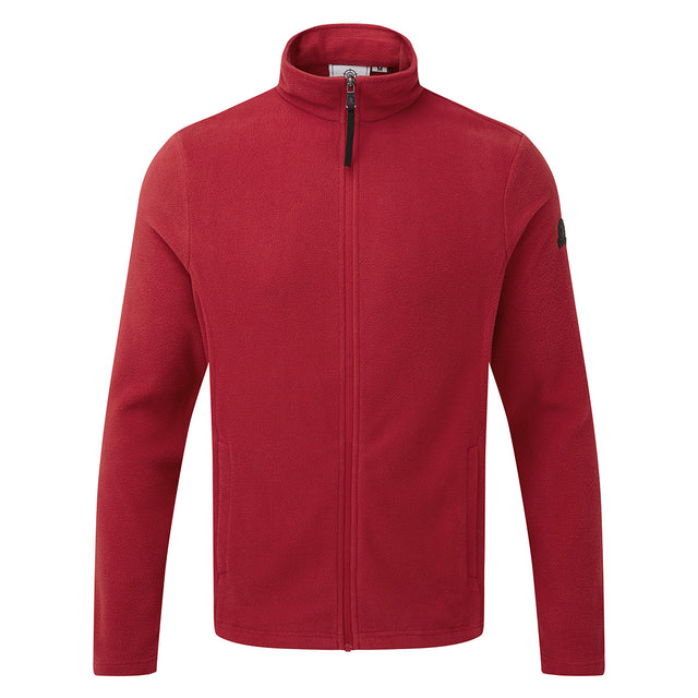 Shire Mens Fleece Jacket - Chilli Red image 6