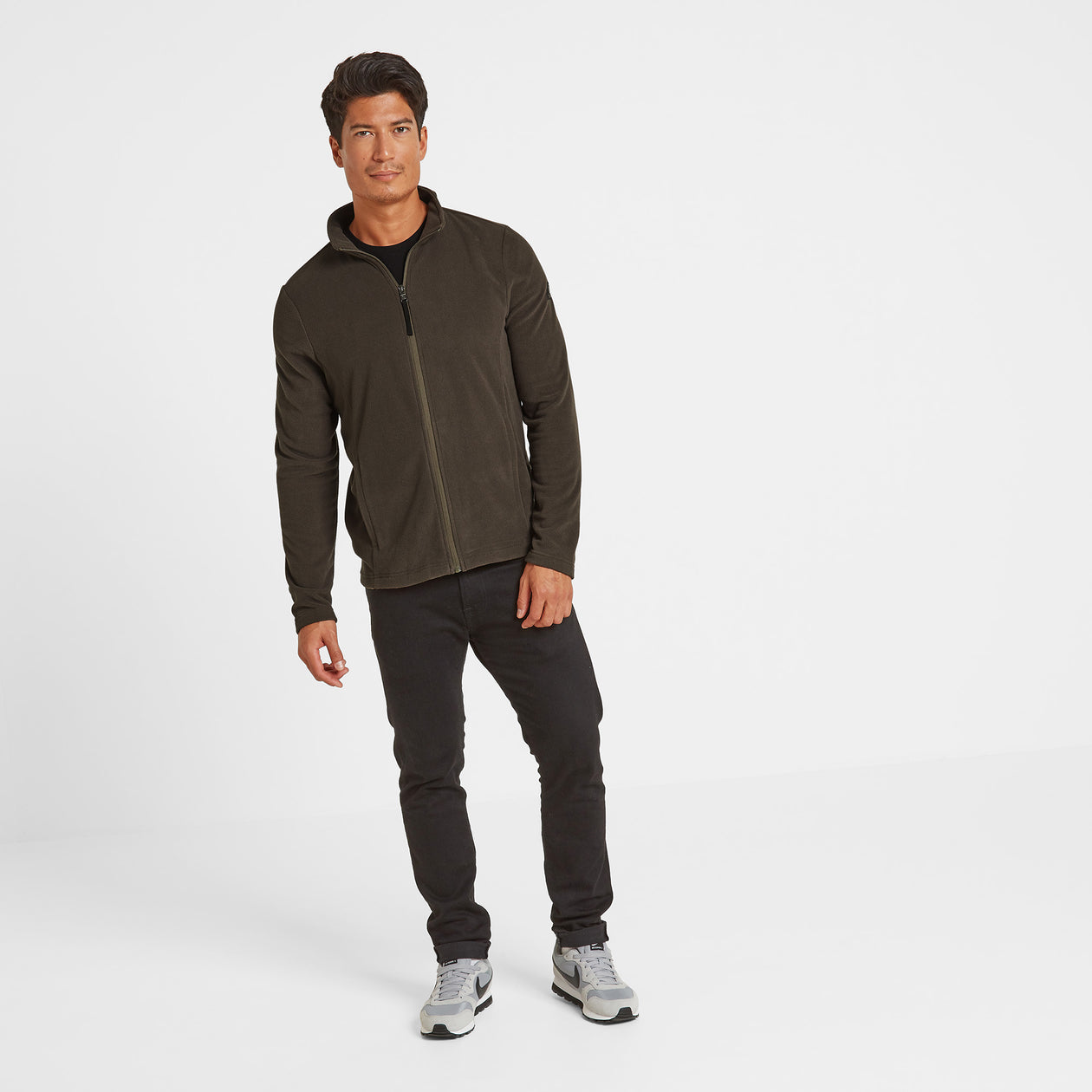 Shire Mens Fleece Jacket - Khaki image 4