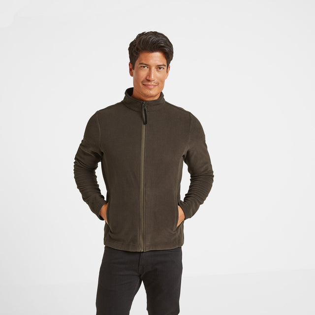 Shire Mens Fleece Jacket - Khaki image 1